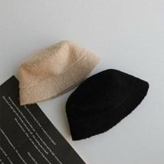 뽀글이 블랙 깊은 꾸안꾸 데일리 패션 벙거지 모자