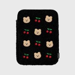 Dot cherry covy-black(아이패드 양털파우치)_(1719914)