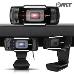 풀HD 1080P 고화질 화상카메라 PC 웹캠 LED 3구조명 얼굴추적기능