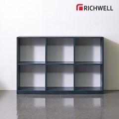 리치웰 엣지 2단6칸 책장 1200 (오픈형)