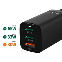 GaN 65W USB C타입 PD PPS 멀티 초고속 충전기 A65W_(2421949)