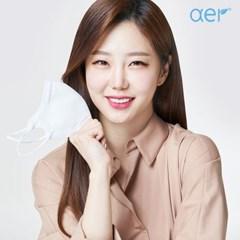 [아에르] 스포츠핏 KF94 마스크 블랙 10매(1매 개별포장)