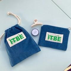 ITBE corduroy pouch_blue