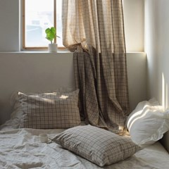 [Fabric] 내추럴 윈도 체크 린넨 Natural Window Check Linen