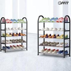OMT 5단 메탈 신발 수납 정리대 슈즈렉 주방 거실 선반