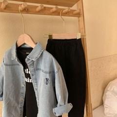 돌핀웨일 뉴욕자수연청셔츠(70~140cm)