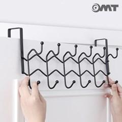 OMT 철제 와이어 문걸이 2단 12구 후크걸이 2color