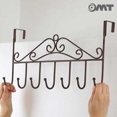 OMT 철제 와이어 문걸이 8구 후크걸이 2color