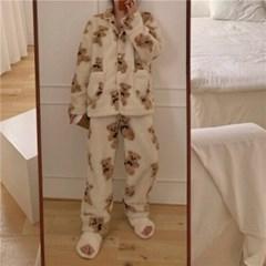 베어 뽀글이 후리스 수면잠옷 파자마 홈웨어