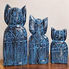 공간 interior 원목 blue OWL 3p세트 CH1686627