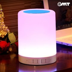 OMT 6컬러 LED터치조명 무드등 무선 블루투스 스피커 캠핑고리내장