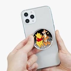 디즈니 곰돌이 푸 글리터 스마트톡 스마트폰 홀더 거치대 폰 거치