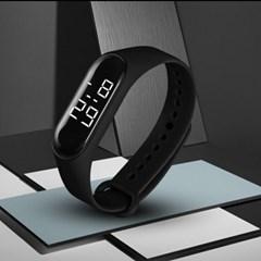 1+1 눈뽕급 선명 White LED Digital Black 손목 시계