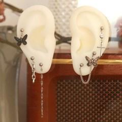 써지컬스틸 유니크 나비투핀 귀걸이 피어싱 6set특가