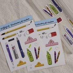 아이엔쓰담 필기구 스티커 - stationery drawing sticker