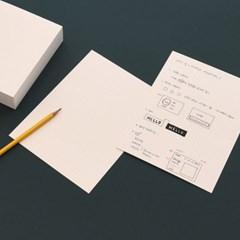 컬러 그리드 인덱스카드 100매 - 6x8