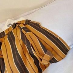 돌핀웨일 브라운스트라이프셔츠(70~140cm)