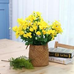 BOX판매 후리지아 12개 성묘 산소 꽃 납골당 조화