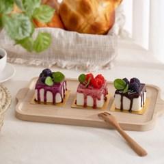 사각 시럽 케이크 모형 1P(자석)