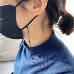 [드앙땅] 블랙 마스크 스트랩 /마스크 걸이 마스크줄 안경줄