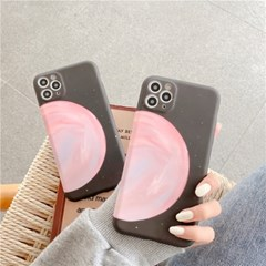아이폰12 미니 프로 맥스 카메라보호 실리콘 풀커버 케이스 핑크 문