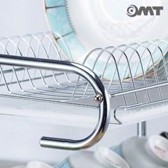 OMT 스테인레스 3단 스탠드 식기건조대 접시 수저통 도마꽂이