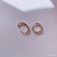 마블 원터치 후프링 귀걸이 / marble earring