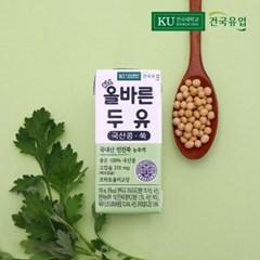 [건국유업] 올바른두유 국산콩 쑥 두유 고칼슘 인진쑥 16팩