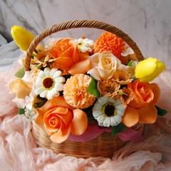 비누꽃바구니 오렌지샤벳 바스켓
