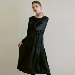 ROMANTIC SHIRRING LONG OPS_BLACK