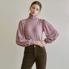 VOLUME TURTLENECK KNIT_DEEP PINK