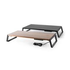 우든스틸 모니터받침대 USB허브 프린터 노트북 소품정리 공간활용