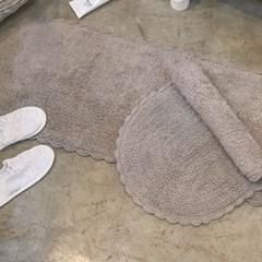 W101블랑슈아 타원코튼 발매트 주방매트