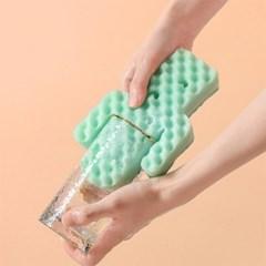 컵닦기 편리한 다용도 스펀지 수세미 3종 세트
