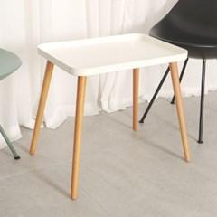비블코리아 밤나무 스틸 사각 테이블 엔틱 카페 거실 티테이블