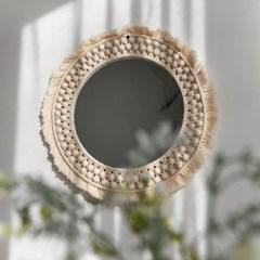에스닉 태슬 마크라메 거울