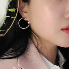 트위스트 담수 진주 링 귀걸이