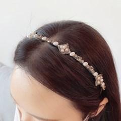 [드앙땅] 마름모 진주 머리띠 백화점 퀄리티 헤어밴드 (4종)