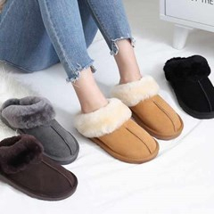 kami et muse Suede fur slippers_KM20w293