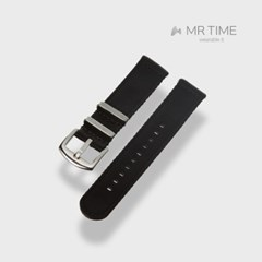 [MR TIME Woven Black] 우븐 시계줄 블랙