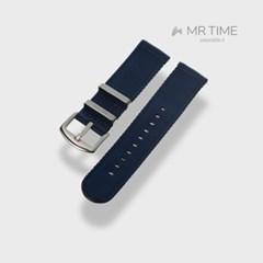 [MR TIME Woven Blue] 우븐 시계줄 블루