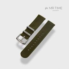 [MR TIME Woven Khaki] 우븐 시계줄 카키