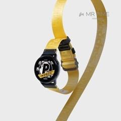 [MR TIME x Peaches] 피치스 콜라보 시계줄 옐로우 20mm