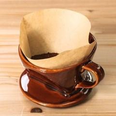 도모 커피 여과지 100매 커피거름종이망 핸드드립백 원형필터