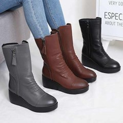 kami et muse Wedge heel middle boots_KM20w296