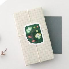 행운꽃 스티커(5장,낱개로 10개)