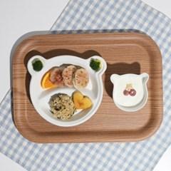키즈콩 도자기 유아 어린이 식판/다이어트 브런치 나눔_(1784207)