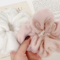[1+1] 몽글몽글 구름 소프트 퍼 청순 여리여리 곱창 머리끈 (6color)