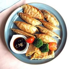 우리밀 채식 고기만두(800g)/채식 김치만두(800g)