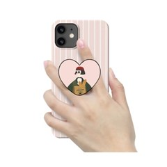[T] 아저씨와소녀 하트 스마트톡 3D곡면하드케이스
